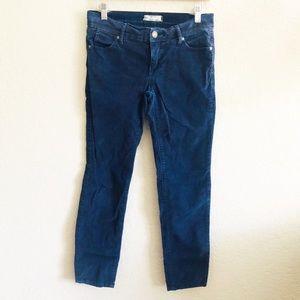 Free people Blue navy corduroy Skinny jean size 25